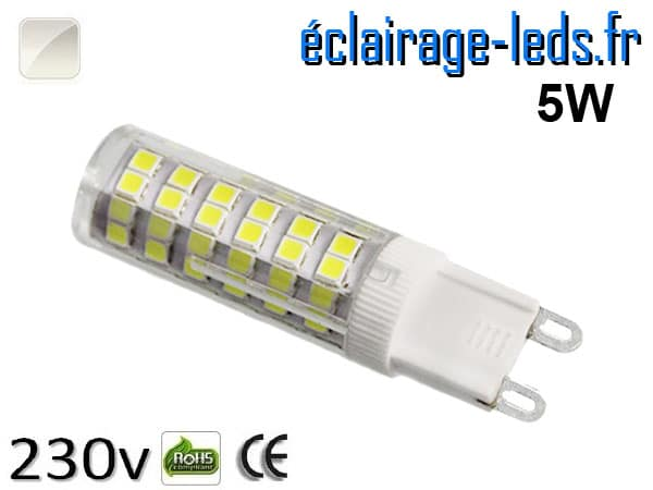 Ampoule LED G9 5w smd 2835 blanc naturel 230v