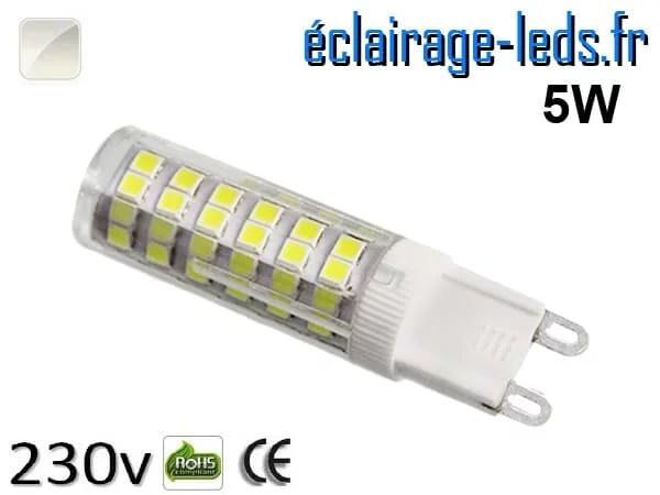 Ampoule LED G9 5w smd 2835 blanc naturel 230v
