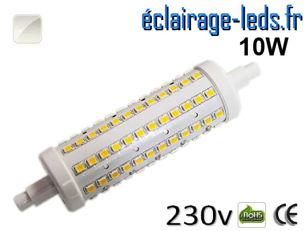 Ampoule LED R7S 10w smd 2835 118mm blanc naturel 230v