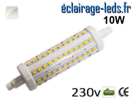 Ampoule LED R7S 10w smd 2835 118mm blanc naturel 230v