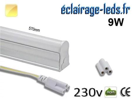 Néon LED T5 9w 57cm blanc chaud 230v