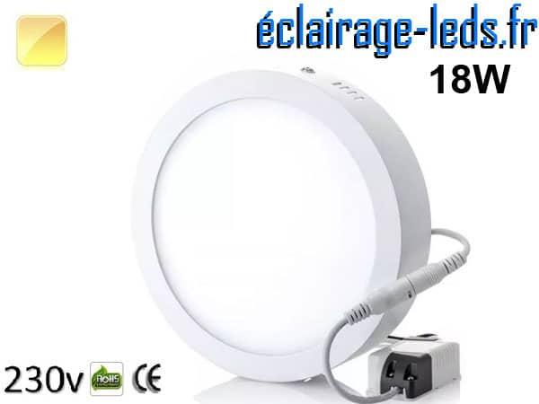 Spot LED 18w blanc chaud 230v