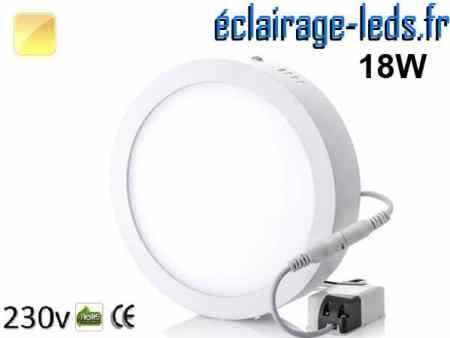 Spot LED 18w blanc chaud design déporté 230v