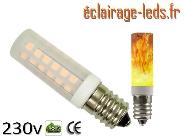 Ampoule LED E14 5W éclairage enflammé 230v