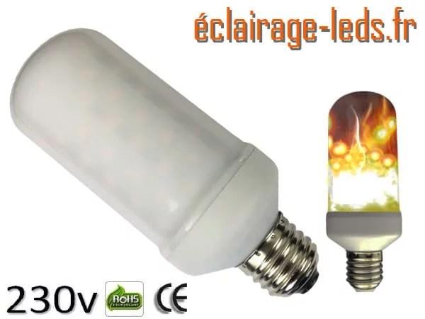 Ampoule LED E27 7W éclairage enflammé 230v