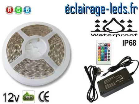 Kit bandeau LED 5m RGB IP68 smd5050 12v