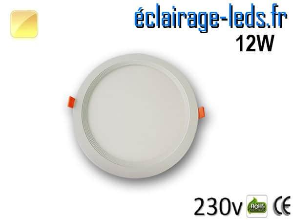 New Spot LED Ultra Slim 12W blanc chaud 230V