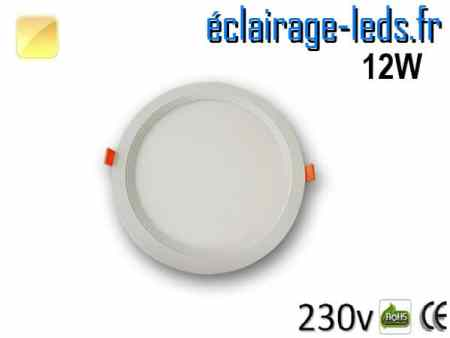 New Spot LED Ultra Slim 12W blanc chaud 230V