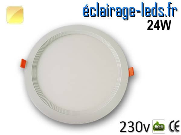 New Spot LED Ultra Slim 24W blanc chaud 230V