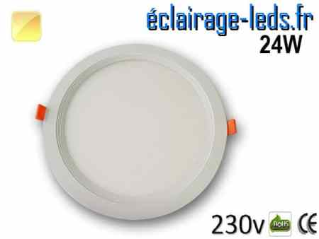 New Spot LED Ultra Slim 24W blanc chaud 230V