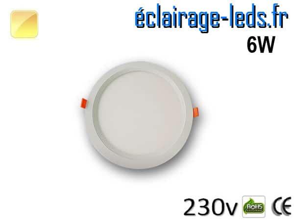 New Spot LED Ultra Slim 6w blanc chaud 230v