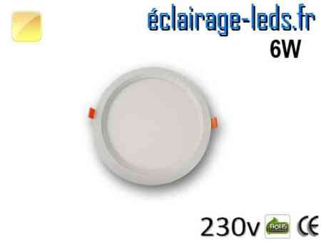 New Spot LED Ultra Slim 6w blanc chaud 230v