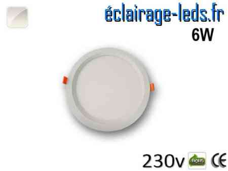 New Spot LED Ultra Slim 6W blanc naturel 230V