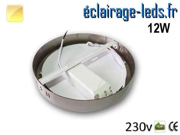 Spot LED Chrome 12W Blanc chaud design deporte