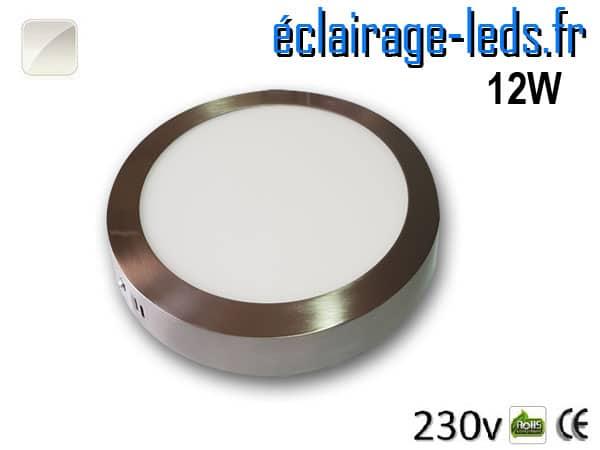 Spot LED Chrome 12W Blanc naturel design deporte 230V