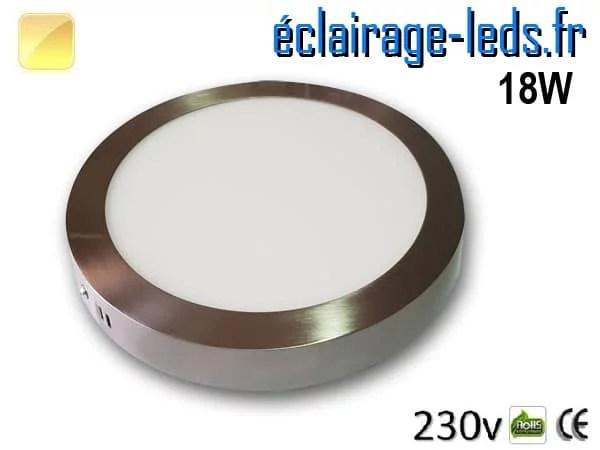 Spot LED Chrome 18W Blanc chaud design deporte 230V