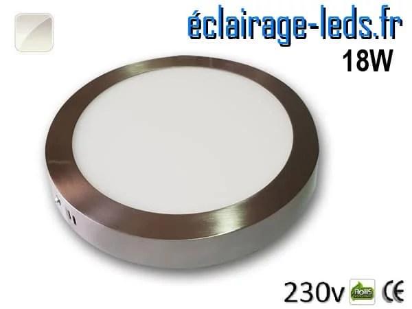 Spot LED Chrome 18W Blanc naturel design deporte 230V