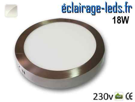 Spot LED Chrome 18W Blanc naturel design deporte 230V
