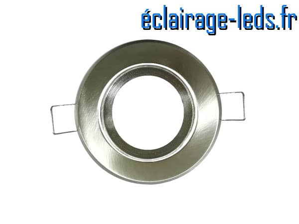 Support LED encastrable chrome orientable perçage 70mm