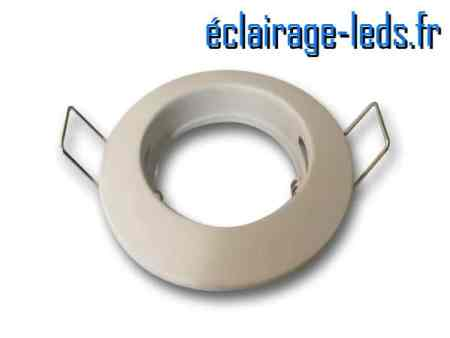 Support LED encastrable fixe blanc perçage 60mm