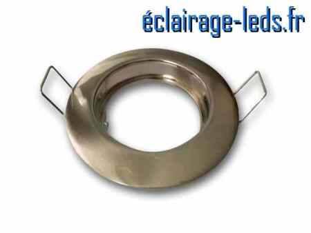 Support LED encastrable fixe chrome perçage 60mm