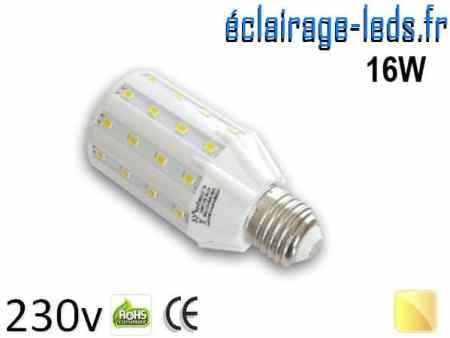 Ampoule LED E27 16W SMD5630 Blanc chaud 230V