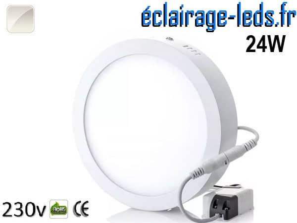 Spot LED 24w blanc naturel design déporté 230v