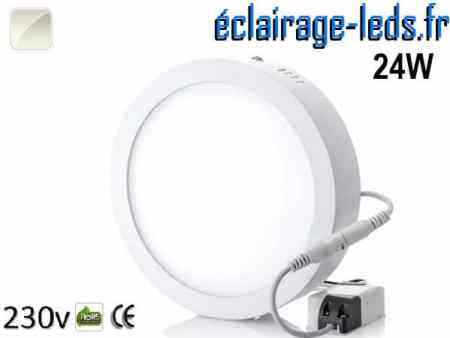 Spot LED 24w blanc naturel design déporté 230v