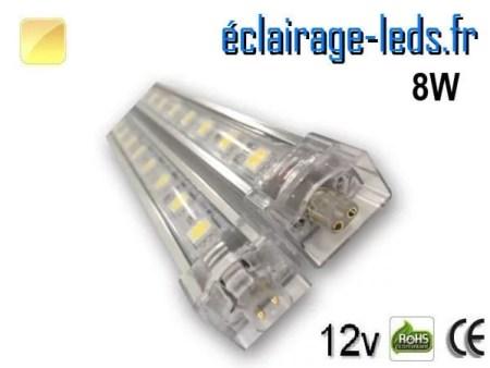 Bandeau LED intermédiaire 50cm rigide 8W Blanc chaud 12V
