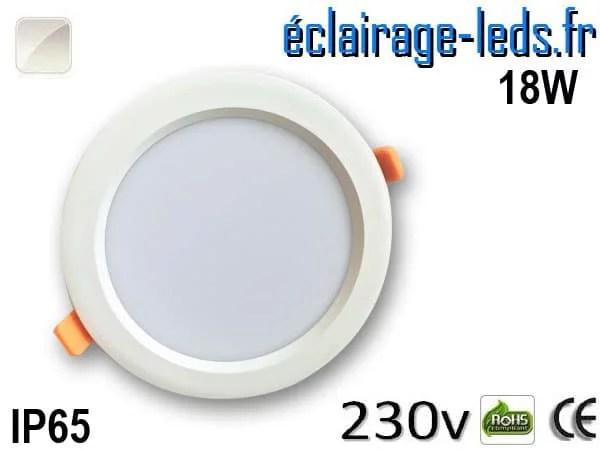 Spot LED 18W Blanc naturel IP65 perçage 160mm 230v