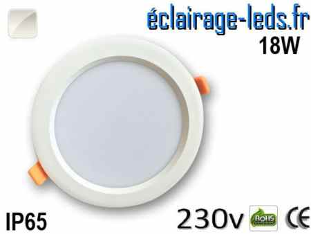 Spot LED 18W Blanc naturel IP65 perçage 160mm 230v