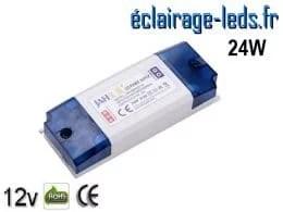 Transformateur LED pour intégration 12V DC 24W