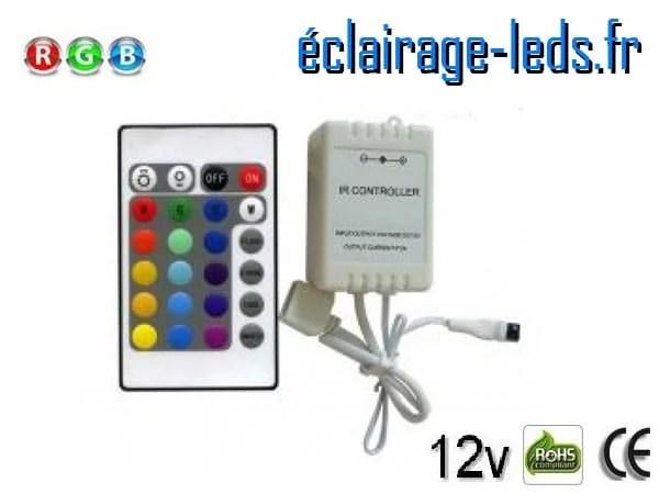Variateur d'intensité bandeau LED 12v RGB