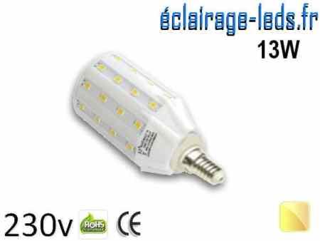 Ampoule LED E14 13W SMD5630 Blanc chaud 230V