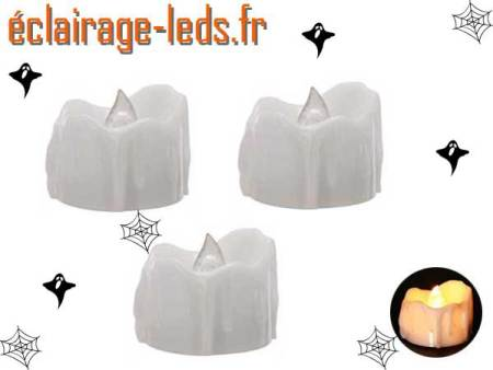3 Bougies LED 3 cm éclairage Halloween