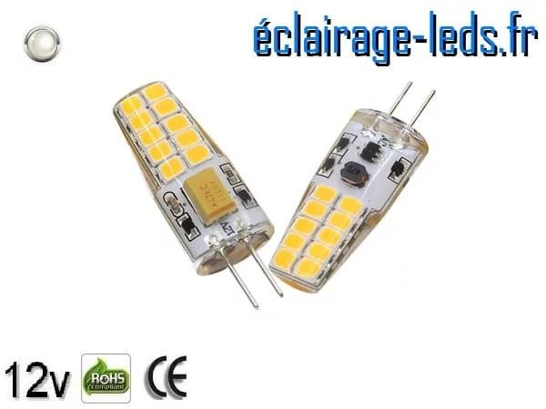 Ampoule led G4 2.5w SMD 2835 blanc 6000K 12v DC ref A191-2