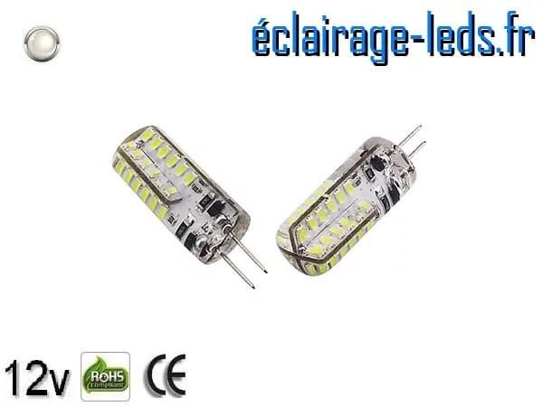 Ampoule led G4 2w SMD 3014 blanc 6000K 12v DC ref A197-2