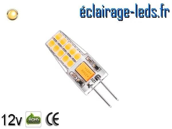 Ampoule led G4 3w SMD 2835 blanc chaud 3000K 10~24v DC ref A193-1