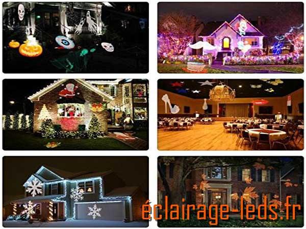 Projecteur LED extérieur ambiance Halloween 12 scénarios 1