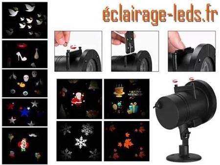 Projecteur LED extérieur ambiance Halloween 12 scénarios 3