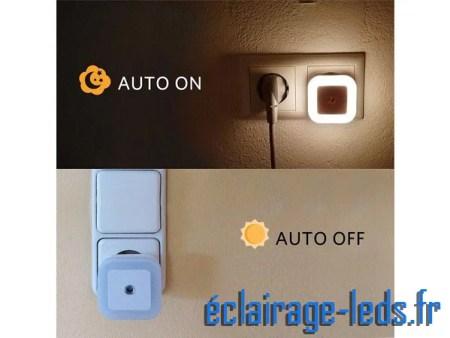 3 x Veilleuse LED crépusculaire Dimmable sur prise blanc chaud 230v