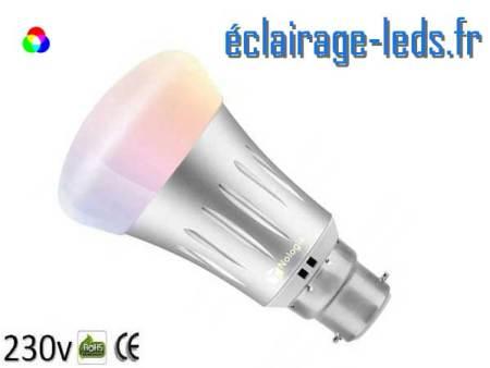 Ampoule LED B22 Smart Wifi dimmable 7w Blanc Chaud & Couleurs 1