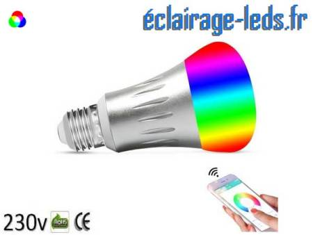 Ampoule LED E27 Smart Wifi dimmable 7w Blanc Chaud & Couleurs 1