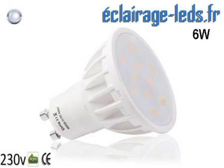Ampoule led GU10 6W Blanc Froid 500lm Équiv 50W 120°