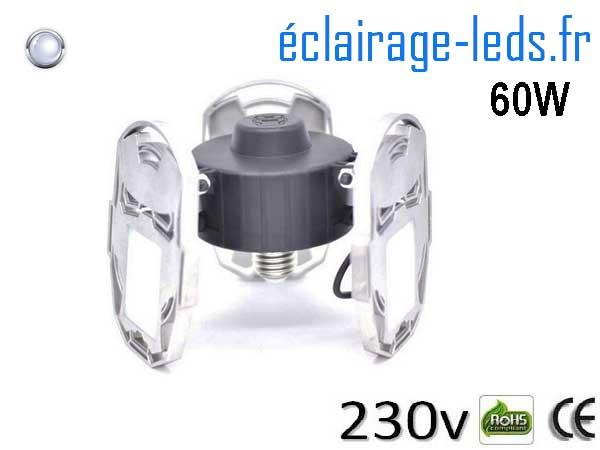 Ampoule led E27 plafonnier 60w SMD blanc 6500K 230v AC