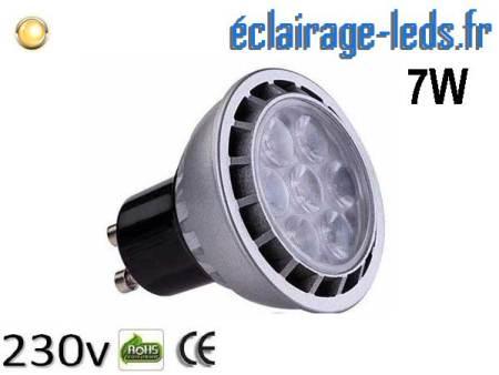 Ampoule led GU10 7W Blanc Chaud 3000K Équiv 60W 60°