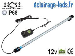 Tube LED 5W Submersible Blanc 48cm Aquarium 12V