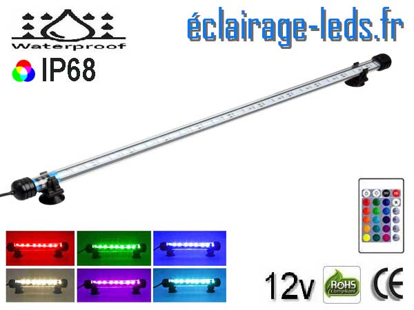 Tube LED RGB 6.5W Submercible 58cm Aquarium 12V