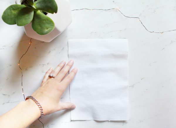 Learn How to Cross Stitch: Part 2 – Preparing Fabric for Stitching