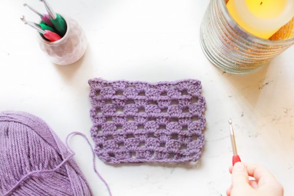 How to Crochet the Crystal Stitch Crochet Tutorial by ECLAIREMAKERY.COM